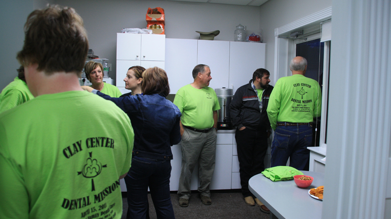 Team members on Clay Center Family Dental Care Dental Mission day