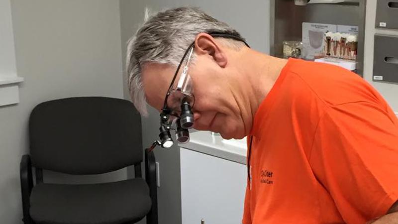 Dr. Hammel on Clay Center Family Dental Care Dental Mission day